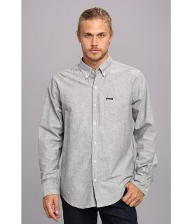 Members Only Oxford Cotton Shirt Mens Long Sleeve Button Up (Gray)