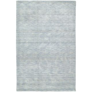 Gabbeh Hand tufted Light Blue Rug (96 X 13)