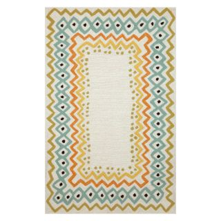 Trans Ocean Import Co Capri Ethnic Border Indoor / Outdoor Rugs Natural