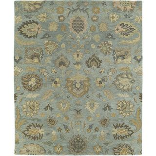 Christopher Kashan Hand tufted Light Blue Rug (2 X 3)