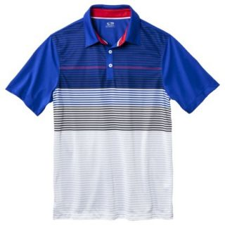 C9 by Champion Mens Advanced Striped Golf Polo Shirt   Athens Blue XL