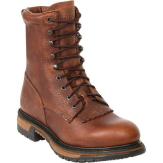 Rocky Ride 8in. Lacer Western Boot   Brown, Size 9 1/2 Wide, Model# 2722