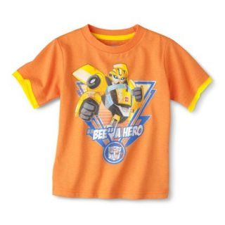 Transformers Bumblebee Infant Toddler Boys Short Sleeve Tee   Orange 4T