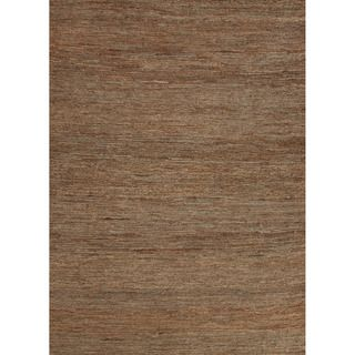 Handwoven Naturals Solid Pattern Green Area Rug (5 X 8)