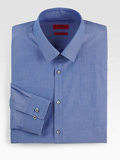 HUGO BOSS Everett Solid Dress Shirt   Open Bu