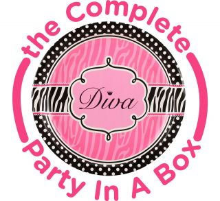 Diva Zebra Print Party Packs
