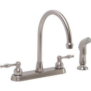 Premier Faucets 119262 Wellington Lead Free Two Handle Kitchen Faucet with Match