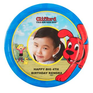 Clifford The Big Red Dog Personalized Dinner Plates