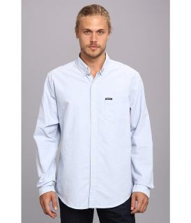 Members Only Oxford Cotton Shirt Mens Long Sleeve Button Up (Blue)