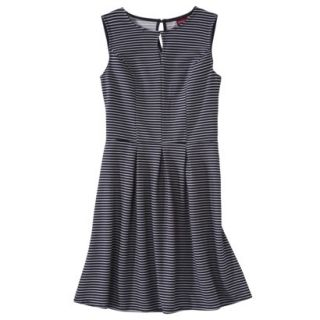 Merona Womens Textured Sleeveless Keyhole Neck Dress   Navy/White   XXL
