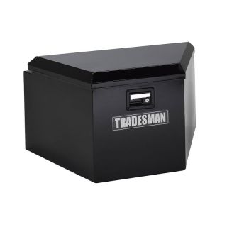 Tradesman Steel Trailer Tongue Box Black   TST16TTB/BK
