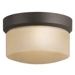 Kichler 7002AZ Outdoor Light, Soft Contemporary/Casual Lifestyle Flush Mount 1 Light Fixture Architectural Bronze