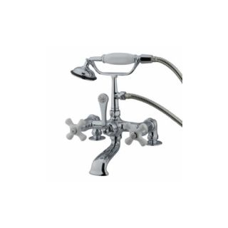 Elements of Design DT2041PX St. Louis Clawfoot Tub Filler With Hand Shower