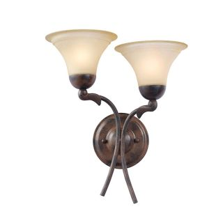 Woodbridge Lighting Darien Two light Royal Bronze Indoor Wall Sconce