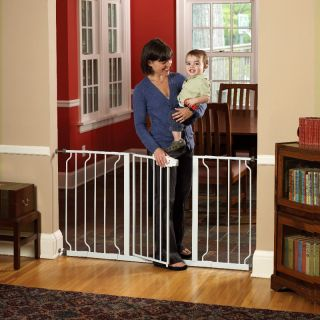 Regalo Extra Wide WideSpan Walk Through Safety Gate Multicolor   1158