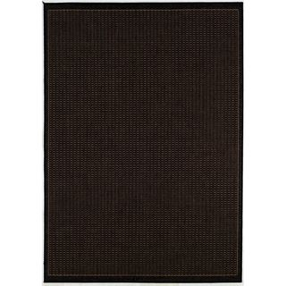 Recife Saddle Stitch Black Rug (510 X 92)