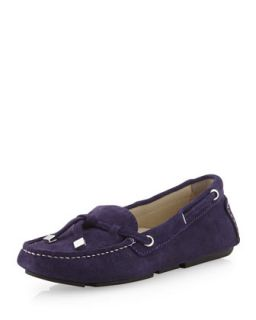 Stephie Suede Moccasin, Dark Purple