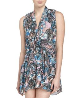 Mojabe Paisley Print Sleeveless Dress, Multicolor