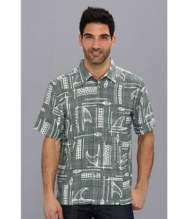 Quiksilver Waterman Hapuna Bay S/S Shirt Mens Short Sleeve Button Up (Green)