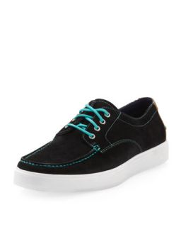 Bergen Suede Moccasin Oxford, Black