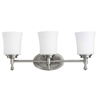 Kichler 5361NI Bathroom Light, Transitional Bath 3Light Fixture Brushed Nickel