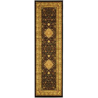 Lyndhurst Collection Mashad Black/ Ivory Runner (23 X 14)
