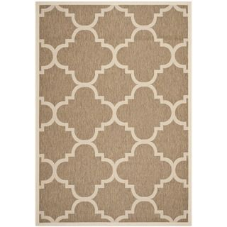 Safavieh Indoor/ Outdoor Courtyard Brown Rug (67 X 96)