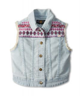 Lucky Brand Kids Embroidered Sabrina Denim Vest Girls Vest (Black)